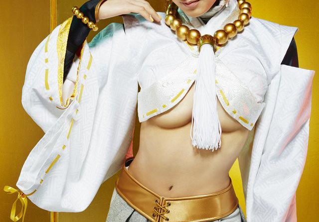 浅田舞女優デビュー!下乳丸見え大胆衣裳で舞台「煉獄に笑う」に出演!